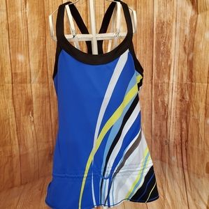 Alo Yoga Cool Fit Royal Blue  Top Sz Large